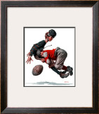 """Fumble"" or ""Tackled"", November 21,1925 Framed Giclee Print by Norman Rockwell"
