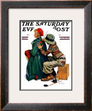 """Young Artist"" or ""She's My Baby"" Saturday Evening Post Cover, June 4,1927 Framed Giclee Print by Norman Rockwell"