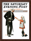 """Giving to Red Cross"" Saturday Evening Post Cover, September 21,1918 Framed Giclee Print by Norman Rockwell"
