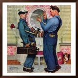 """""""Plumbers"""", June 2,1951 Framed Giclee Print by Norman Rockwell"""