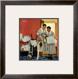 """""""Just Married"""" (hotel maids and confetti), June 29,1957 Framed Giclee Print by Norman Rockwell"""