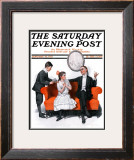"""Shall We Dance"" Saturday Evening Post Cover, January 13,1917 Framed Giclee Print by Norman Rockwell"