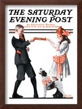 """Playing Party Games"" Saturday Evening Post Cover, April 26,1919 Framed Giclee Print by Norman Rockwell"