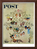 """Family Tree"" Saturday Evening Post Cover, October 24,1959 Framed Giclee Print by Norman Rockwell"