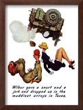 """""""The Wonderful Life of Wilbur the Jeep"""" B, January 29,1944 Framed Giclee Print by Norman Rockwell"""