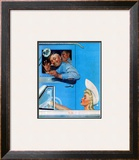 &quot;Two Flirts&quot;, July 26,1941 Framed Giclee Print by Norman Rockwell