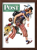 """Rosie to the Rescue"" Saturday Evening Post Cover, September 4,1943 Framed Giclee Print by Norman Rockwell"