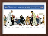 """Maternity Waiting Room"", July 13,1946 Framed Giclee Print by Norman Rockwell"