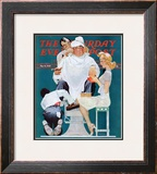 &quot;Full Treatment&quot; Saturday Evening Post Cover, May 18,1940 Framed Giclee Print by Norman Rockwell