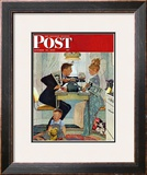 """Dewey v. Truman"" Saturday Evening Post Cover, October 30,1948 Framed Giclee Print by Norman Rockwell"