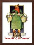 """Merrie Christmas"", December 10,1932 Framed Giclee Print by Norman Rockwell"