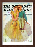 """On Top of the World"" Saturday Evening Post Cover, July 11,1936 Framed Giclee Print by Norman Rockwell"