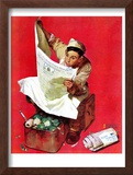 """Willie Gillis on K.P"", April 11,1942 Framed Giclee Print by Norman Rockwell"