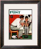 &quot;Facts of Life&quot; Saturday Evening Post Cover, July 14,1951 Framed Giclee Print by Norman Rockwell