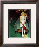 """Johanna's Christmas Star"", December 18,1937 Framed Giclee Print by Norman Rockwell"