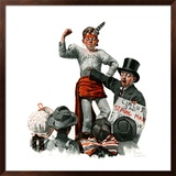"""Circus Strongman"", June 3,1916 Framed Giclee Print by Norman Rockwell"