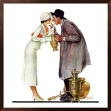 """""""Bargaining with Antique Dealer"""", May 19,1934 Framed Giclee Print by Norman Rockwell"""