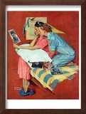 """Movie Star"", February 19,1938 Framed Giclee Print by Norman Rockwell"
