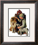 """Making Friends"" or ""Raleigh Rockwell"", September 28,1929 Framed Giclee Print by Norman Rockwell"
