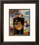 &quot;Bottom of the Sixth&quot;  (Three Umpires), April 23,1949 Framed Giclee Print by Norman Rockwell