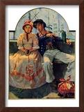 """Yarn Spinner"", November 8,1930 Framed Giclee Print by Norman Rockwell"