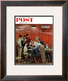 """Jury"" or ""Holdout"" Saturday Evening Post Cover, February 14,1959 Framed Giclee Print by Norman Rockwell"