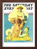 """""""Summertime, 1933"""" Saturday Evening Post Cover, August 5,1933 Framed Giclee Print by Norman Rockwell"""