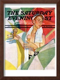 """Melting Ice Cream"" or ""Joys of Summer"" Saturday Evening Post Cover, July 13,1940 Framed Giclee Print by Norman Rockwell"