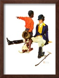 """Thrown from a Horse"", March 17,1934 Framed Giclee Print by Norman Rockwell"