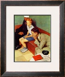 October 16,1937 Framed Giclee Print by Norman Rockwell