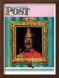 &quot;No Smoking&quot; Saturday Evening Post Cover, May 27,1944 Framed Giclee Print by Norman Rockwell