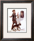 """Three's Company"", June 19,1920 Framed Giclee Print by Norman Rockwell"
