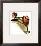 """Exhilaration"", July 13,1935 Framed Giclee Print by Norman Rockwell"