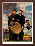 """Bottom of the Sixth""  (Three Umpires), April 23,1949 Framed Giclee Print by Norman Rockwell"