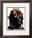 """Doctor and the Doll"", March 9,1929 Framed Giclee Print by Norman Rockwell"
