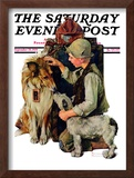 """Making Friends"" or ""Raleigh Rockwell"" Saturday Evening Post Cover, September 28,1929 Framed Giclee Print by Norman Rockwell"