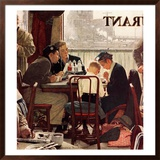 """Saying Grace"", November 24,1951 Framed Giclee Print by Norman Rockwell"