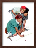 """Marble Champion"" or ""Marbles Champ"", September 2,1939 Framed Giclee Print by Norman Rockwell"
