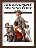 """When Johnny Comes Marching Home"" Saturday Evening Post Cover, February 22,1919 Framed Giclee Print by Norman Rockwell"