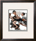 """""""No Swimming"""", June 4,1921 Framed Giclee Print by Norman Rockwell"""
