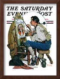 """Colonial Sign Painter"" Saturday Evening Post Cover, February 6,1926 Framed Giclee Print by Norman Rockwell"