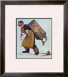 """Mermaid"" or ""Lobsterman"", August 20,1955 Framed Giclee Print by Norman Rockwell"