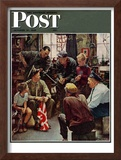 """Homecoming Marine"" Saturday Evening Post Cover, October 13,1945 Framed Giclee Print by Norman Rockwell"