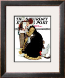 """Summer stock"" Saturday Evening Post Cover, August 5,1939 Framed Giclee Print by Norman Rockwell"
