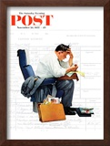 """Balancing the Expense Account"" Saturday Evening Post Cover, November 30,1957 Framed Giclee Print by Norman Rockwell"