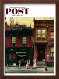 """Walking to Church"" Saturday Evening Post Cover, April 4,1953 Framed Giclee Print by Norman Rockwell"