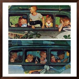 """""""Outing"""" or """"Coming and Going"""", August 30,1947 Framed Giclee Print by Norman Rockwell"""