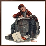"""""""Pen Pals"""", January 17,1920 Framed Giclee Print by Norman Rockwell"""