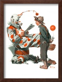 """Circus"" or ""Meeting the Clown"", May 18,1918 Framed Giclee Print by Norman Rockwell"