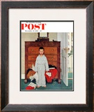 """Truth about Santa"" or ""Discovery"" Saturday Evening Post Cover, December 29,1956 Framed Giclee Print by Norman Rockwell"